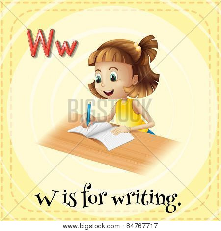Alphabet W is for writing