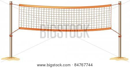 close up volleyball net