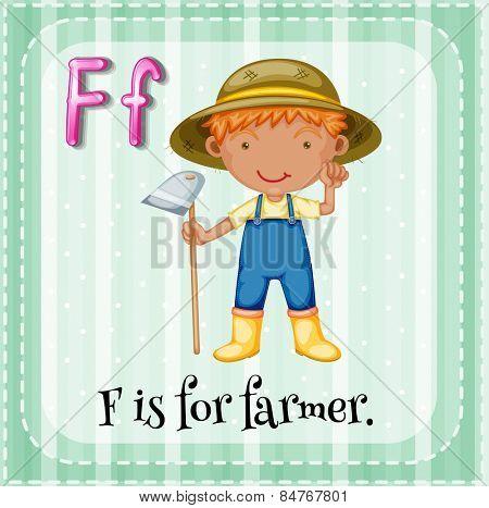 Alphabet F is for farmer