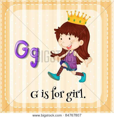 Letter G is for girl