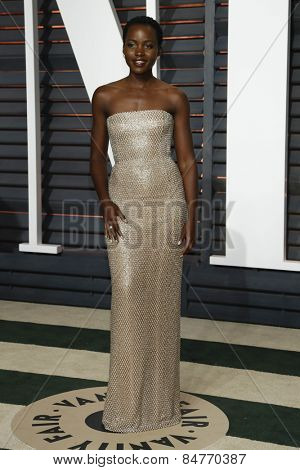 LOS ANGELES - FEB 22:  Lupita nyong'o at the Vanity Fair Oscar Party 2015 at the Wallis Annenberg Center for the Performing Arts on February 22, 2015 in Beverly Hills, CA