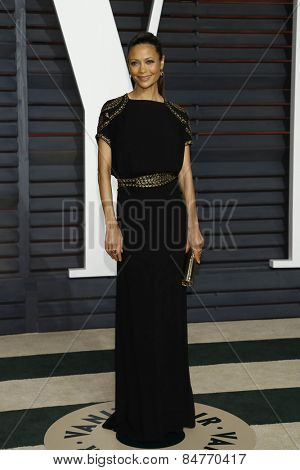 LOS ANGELES - FEB 22:  Thandie Newton at the Vanity Fair Oscar Party 2015 at the Wallis Annenberg Center for the Performing Arts on February 22, 2015 in Beverly Hills, CA