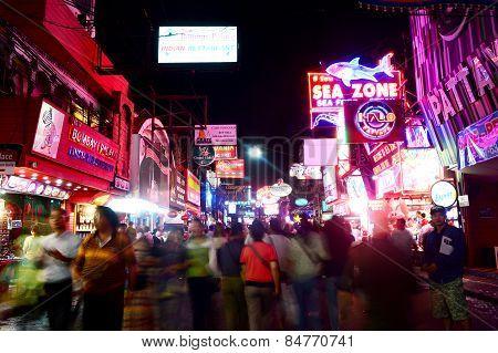 night life at walking street, Pattayah