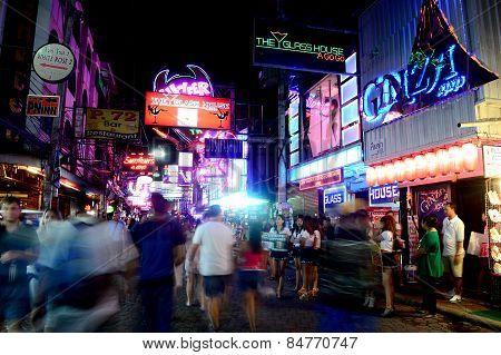 night life at Pattaya walking street