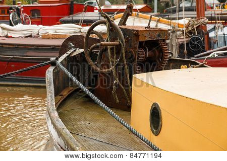 Old Boat Equipment Fore Deck
