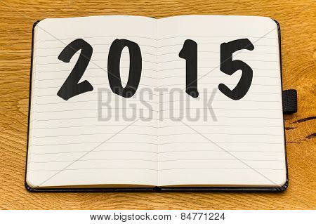 Empty Pages Notebook New Year