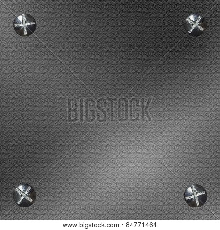 Background Metal Four Bolts