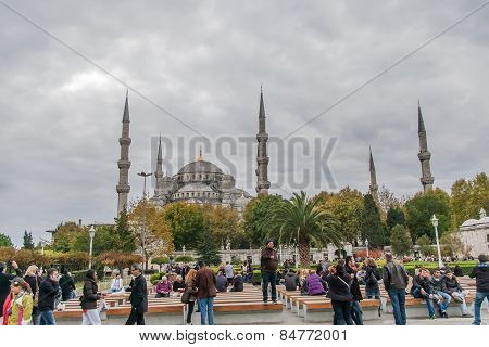 View On The Blue Mosque, (sultanahmet Camii), Istanbul