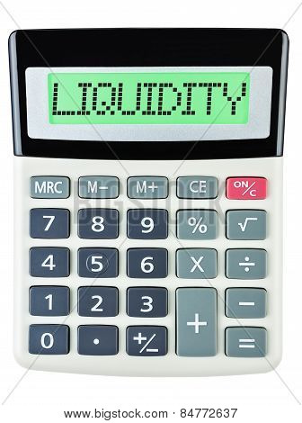 Calculator With Liquidity