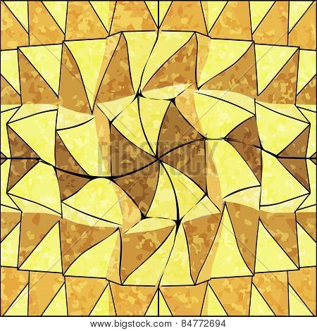 Seamless Mexican shabby pattern in shades of yellow
