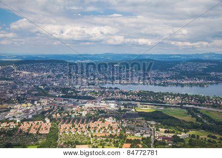 Aerial View Of Zurich City