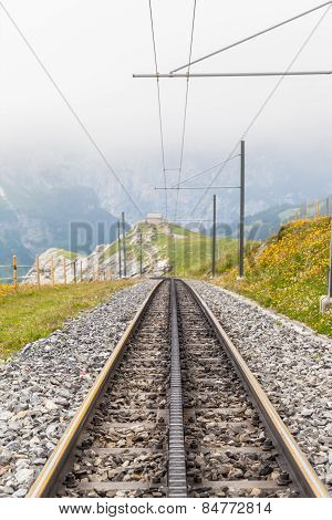 Tracks Of Swiss Cogwheel Train