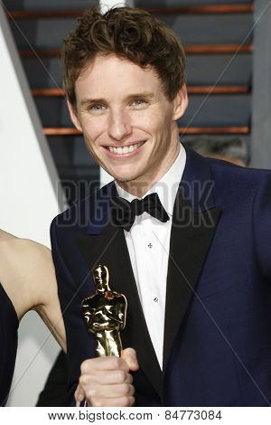 LOS ANGELES - FEB 22:  Eddie Redmayne at the Vanity Fair Oscar Party 2015 at the Wallis Annenberg Center for the Performing Arts on February 22, 2015 in Beverly Hills, CA