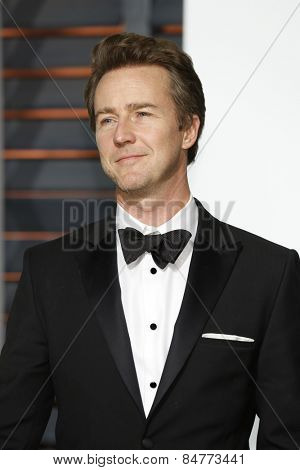 LOS ANGELES - FEB 22:  Edward Norton at the Vanity Fair Oscar Party 2015 at the Wallis Annenberg Center for the Performing Arts on February 22, 2015 in Beverly Hills, CA