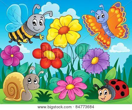Flower topic image 5 - eps10 vector illustration.