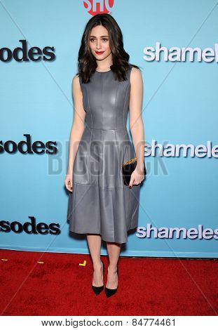LOS ANGELES - JAN 05:  Emmy Rossum arrives to the Showtime celebrates all-new seasons of Shameless, House of Lies and Episodes  on January 5, 2015 in West Hollywood, CA