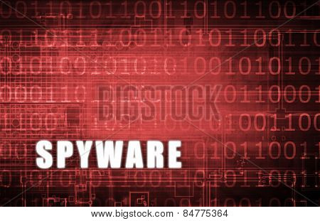 Spyware on a Digital Binary Warning Abstract