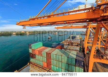 Industrial Container Cargo Freight Ship