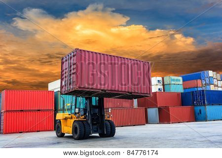 Containers At Port Of Laem Chabang