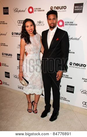 LOS ANGELES - FEB 22:  Jurnee Smollett-Bell, Josiah Bell at the Elton John Oscar Party 2015 at the City Of West Hollywood Park on February 22, 2015 in West Hollywood, CA
