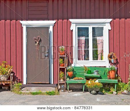 Rauma. Finland. House in Old Rauma