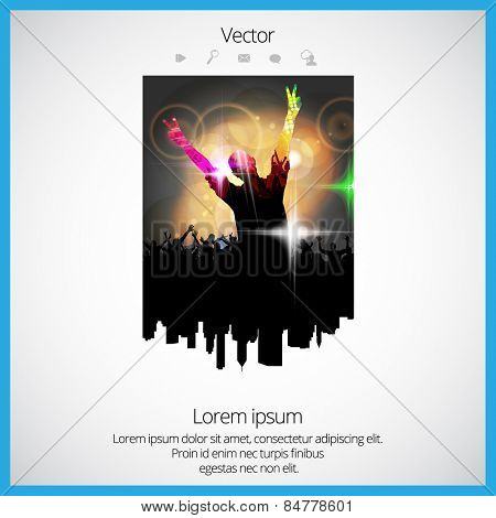 Party poster. Vector
