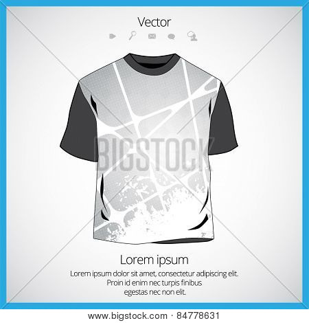 Vector. Man's t-shirt design