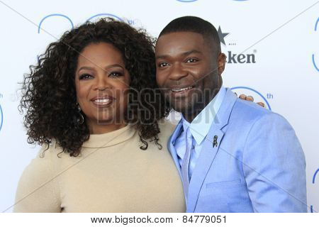 SANTA MONICA - FEB 21: Oprah Winfrey, David Oyelowo at the 2015 Film Independent Spirit Awards on February 21, 2015 in Santa Monica, California