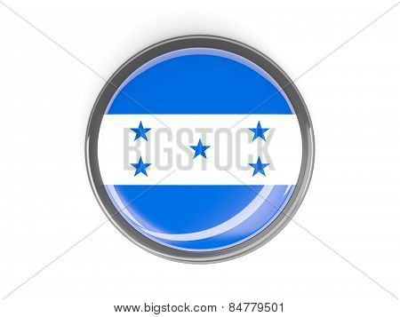 Round Button With Flag Of Honduras