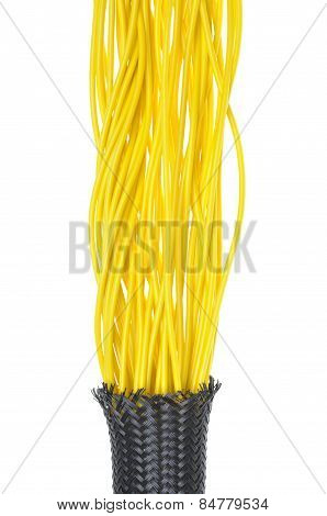 Yellow electrical wires
