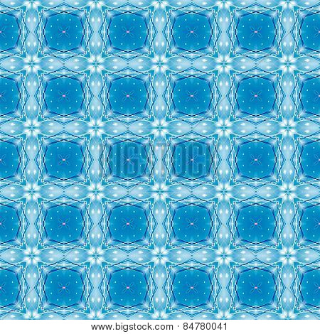 Kaleidoscope Blue seamless pattern for Your Desing