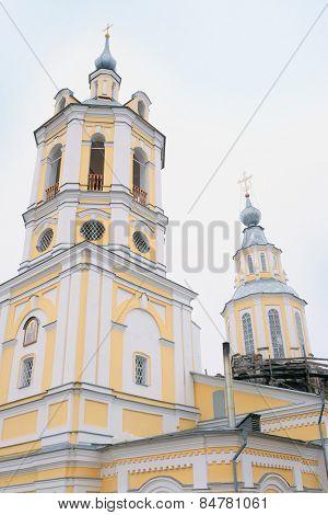 RUSSIA, KALUGA REGION, KOZELSK - FEBRUARY, 23: St. Nicholas Church at the Nobel hill