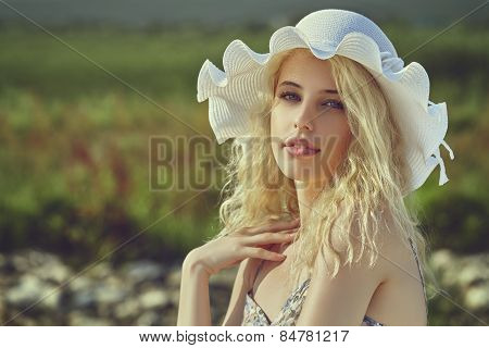 Young Lady With Sun Hat