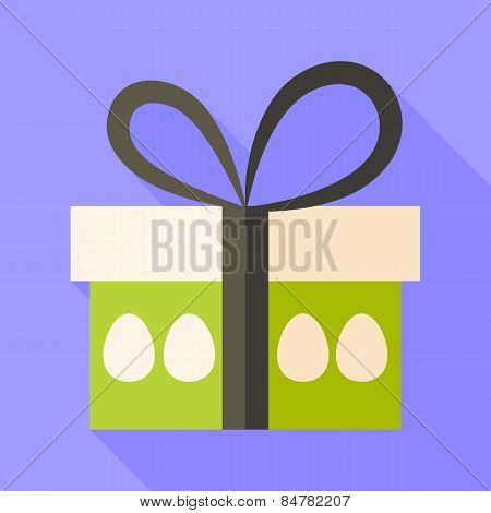 Easter Present Box With Eggs