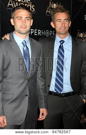 LOS ANGELES - FEB 27:  Cody Walker, Caleb Walker at the Noble Awards at the Beverly Hilton Hotel on February 27, 2015 in Beverly Hills, CA