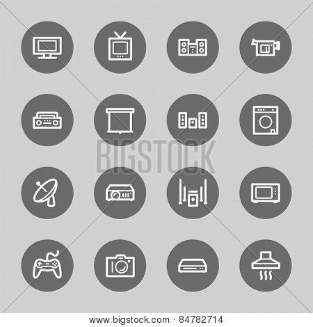 Home Appliance web icons set