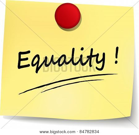 Equality Yellow Note