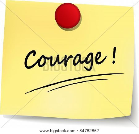Courage Yellow Note