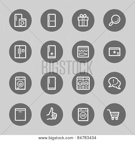 Kitchen Appliances Web Icons
