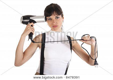 Woman Is Shooting Herself