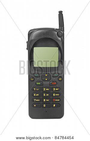 Retro mobile phone isolated on white background