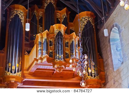 Cathedral church at Stavanger Norway - religion background