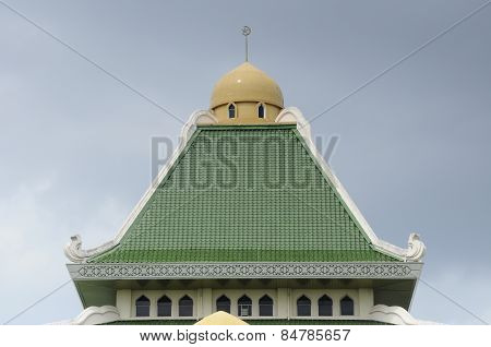 Roof of Al Azim Mosque in Malacca, Malaysia