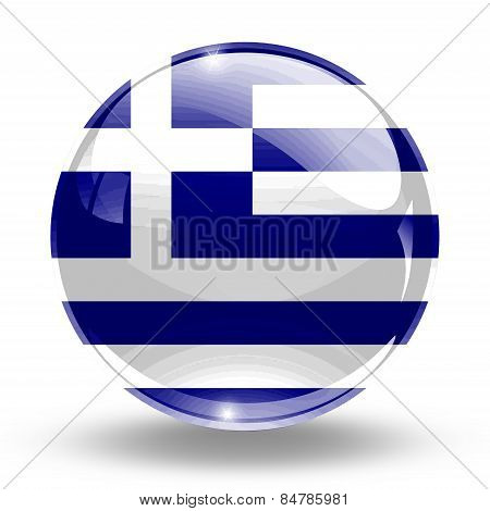 3D, crystal sphere Greece