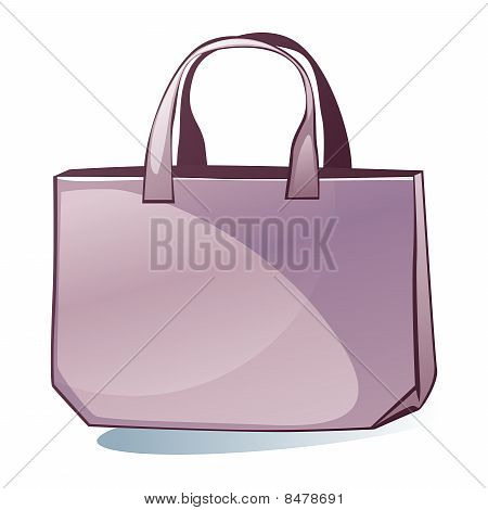 isolated colored bag