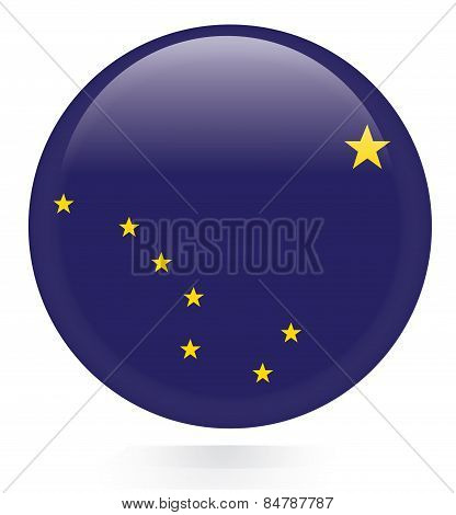Alaska flag button