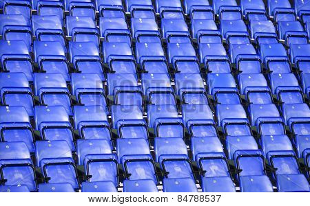 Blue Spectators seats at a stadium