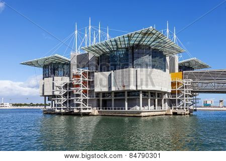 Lisbon, Portugal - February 01, 2015: Lisbon Oceanarium, the second largest oceanarium in the world and the biggest in Europe in Parque das Nacoes, Lisbon, Portugal