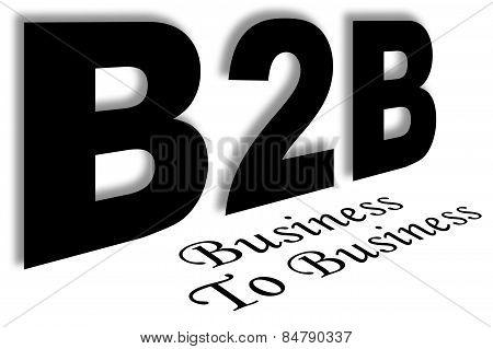 b2b black text