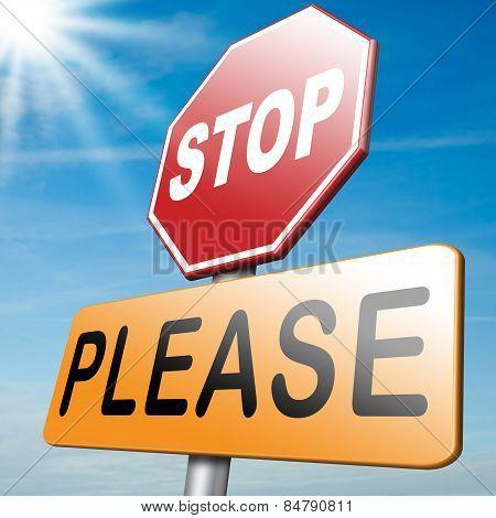 Please Stop No More